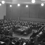 A general view of the League Assembly in Geneva on Dec. 18, 1935.
