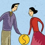 Money is one of the things most likely to cause discord in a long-term relationship.