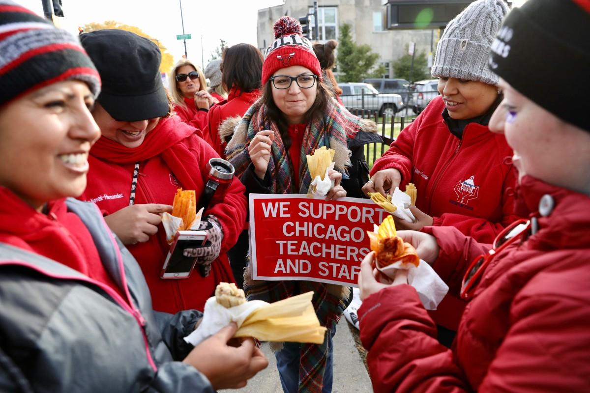 Hanson Elementary Strike