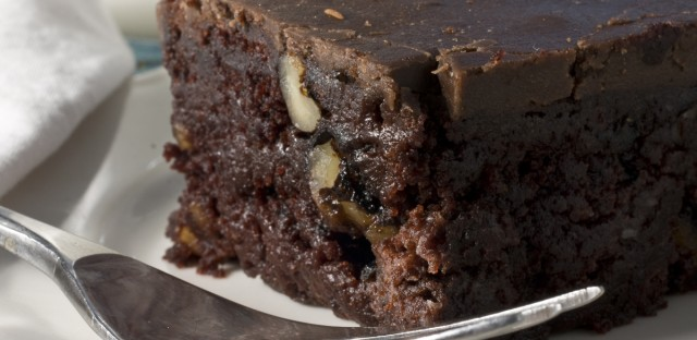 "Vegan coffee fudge brownies from Alicia Silverstone's ""The Kind Diet."""