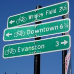 Bicycle street sign