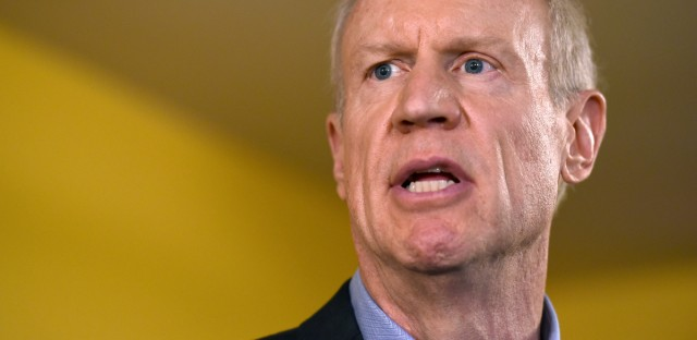 Illinois Gov. Bruce Rauner speaks during a news conference on July 5, 2017, in Chicago.