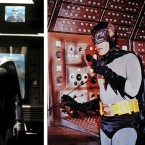 Michael Keaton's grittier Batman, left, and Adam West's more campy version on the right are just two of the many iterations of Bat-mania.