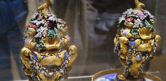 Incense burners covered in enamel, gold and diamonds are part of the 10,000-piece collection at Cairo's newly reopened Museum of Islamic Art.