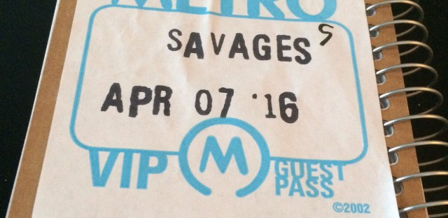 The Savages performed a powerful show at the Metro Thursday, April 7.