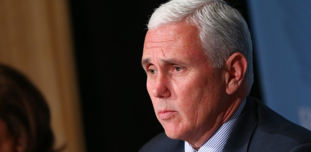 Indiana Gov. Mike Pence.