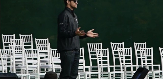 Justin Timberlake rehearses for the Ryder Cup opening ceremonies