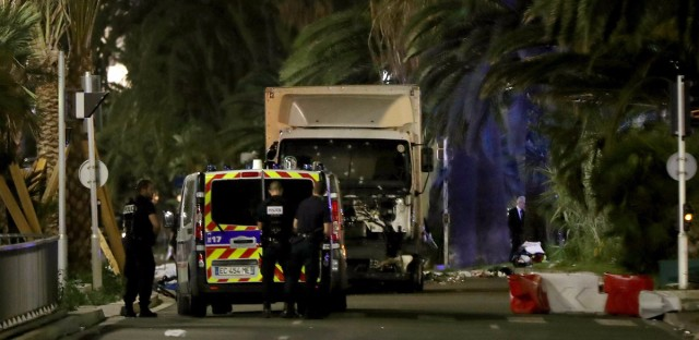 The former mayor of the French city of Nice said dozens of people were likely killed after a van drove into a crowd during Bastille Day in the French Riviera resort Thursday. He urged residents to stay indoors.