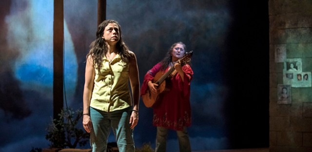 "Sandra Delgado (Yoli) and Laura Crotte (Desamaya) perform in ""La Ruta."""