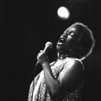 Sarah Vaughan sings at Carnegie Hall, Tuesday, July 1, 1980 in New York. A tradition now at the Newport Jazz Festival, Vaughan attracts as audience as diverse as New York can provide.