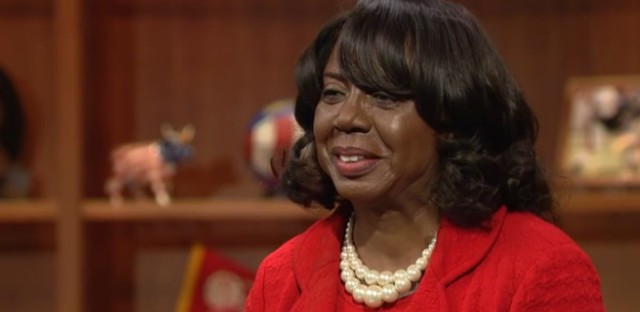 "Cook County Circuit Court Clerk Dorothy Brown during an Oct. 29, 2015 appearance on WTTW's ""Chicago Tonight."""