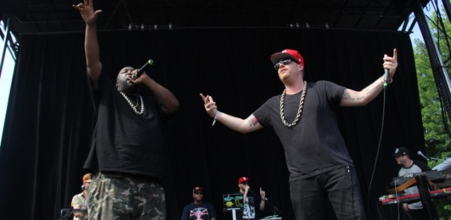 Killer Mike and El-P performing together