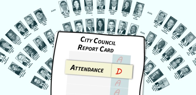 "A report card with an attendance grade of ""D"""