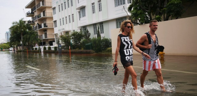 """Government scientists are working on a climate assessment that among other things will help predict """"sunny day"""" floods like this one in Miami Beach, Fla., in 2015."""