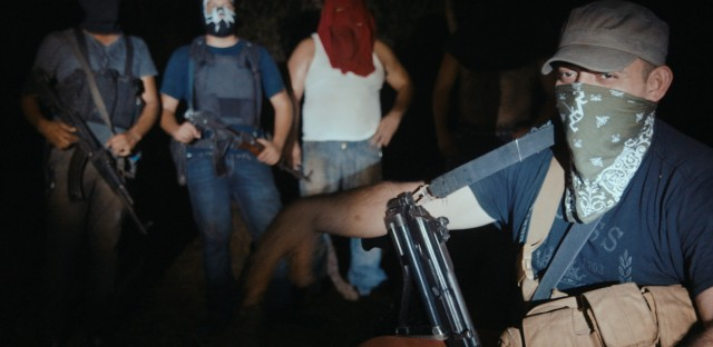 Meth lab cooks in Michoacán, Mexico in a scene from Cartel Land.