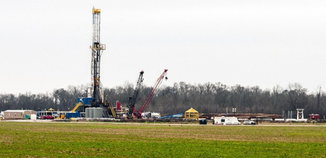 Fracking operation near Shreveport, Louisiana.