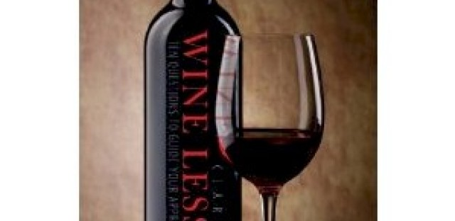 """Cover of Clara Orban's """"Wine Lessons: Ten Questions to Guide Your Appreciation of Wine"""" (detail)"""