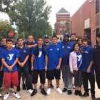 Chico Tillmon with Urban Warriors youth and alumni after a summer 2017 peace march.