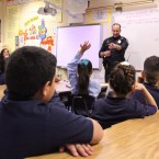 officer in classroom
