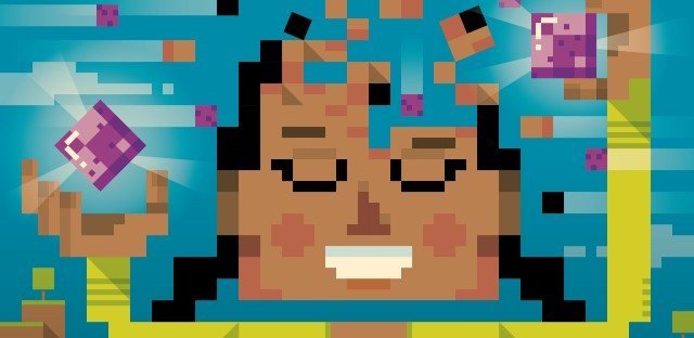 Minecraft building a brain