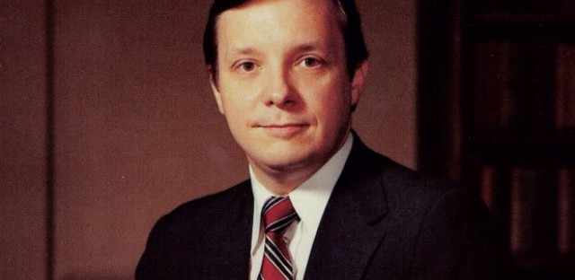 Senator Dick Durbin in his mid-30s, the earliest photo his office could track down.