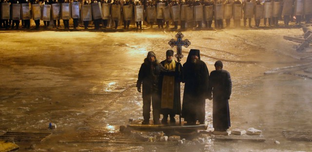 Ukraine Priests and Protests