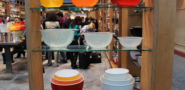 OXO nesting colander and bowl with lid at International Home   Housewares Show 2013 in Chicago (WBEZ/Louisa Chu0