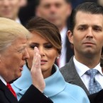 Donald Trump Jr., far right during his father's inauguration