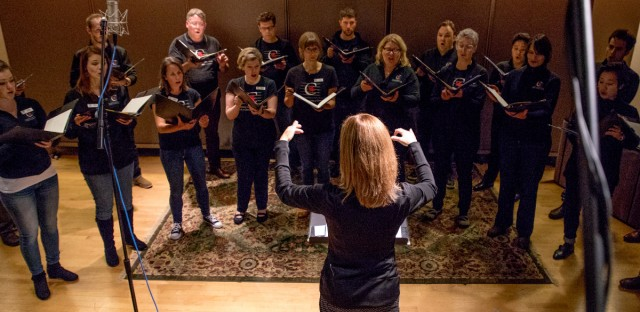 The Canadian Chamber Choir visits WBEZ studios on Wednesday, Oct. 11, 2017.
