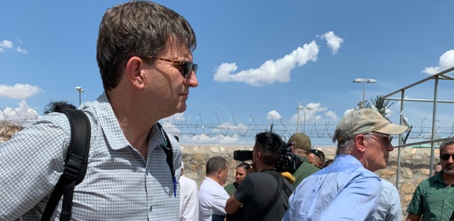 Rep. Brad Schneider tours the Paseo del Norte Bridge and processing facility in El Paso, TX with Customs and Border Patrol.