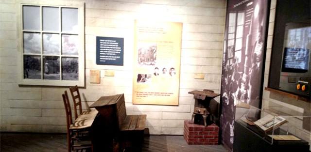 Rev. De Laine's workspace was replicated for the exhibit.