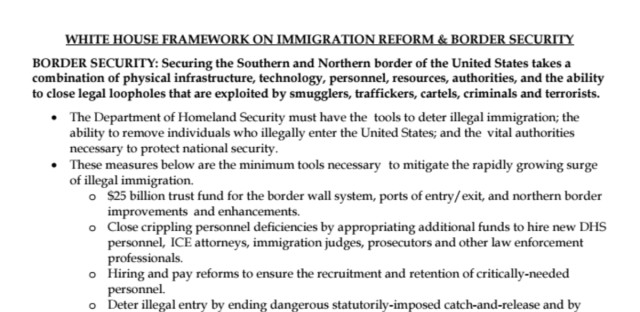 White House Framework on Immigration
