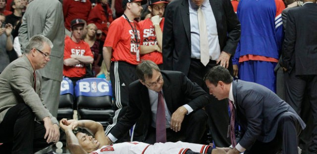 Derrick Rose suffers an ACL injury and remains out.