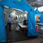 COVID-19 Rush University ambulance bay