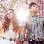 "Crisia Regalado and David Aquino comprise electropop duo ""Sin Color."""