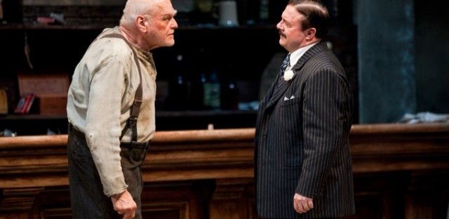 Brian Dennehy and Nathan Lane star in Eugene O'Neill's The Iceman Cometh, directed by Robert Falls at Goodman Theatre.