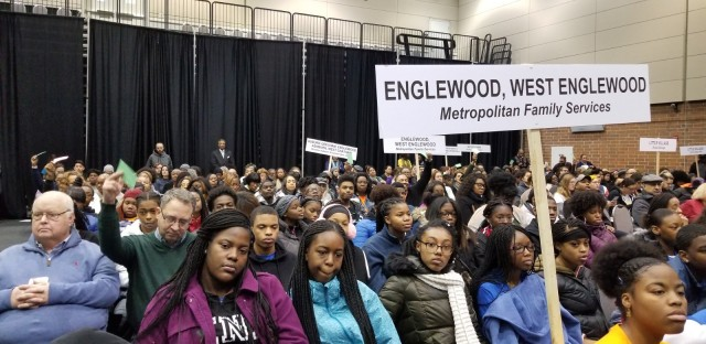 Englewood and West Englewood residents at 2019 mayoral candidate forum
