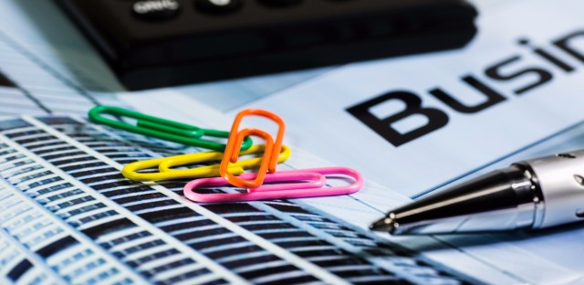 paperclips and calculator