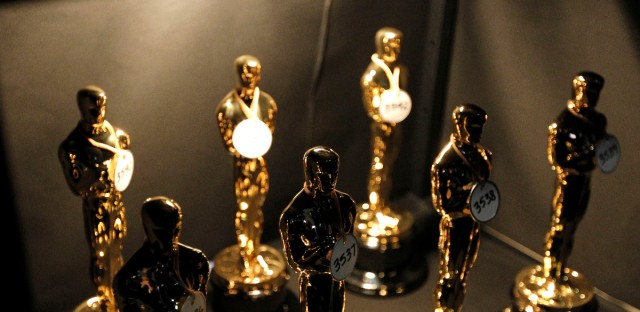 Numbered Oscar statuettes are seen backstage at the 83rd Academy Awards on Sunday, Feb. 27, 2011, in the Hollywood section of Los Angeles.