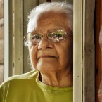 Audrey Shenendoah, an Iroquois clan mother, poses at her home in Onondaga Nation, N.Y. on July 19, 2010.