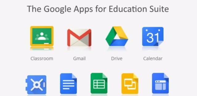 Screenshot of Google Apps