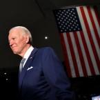 Democratic presidential hopeful former Vice President Joe Biden spoke at the National Constitution Center in Philadelphia on Tuesday night.