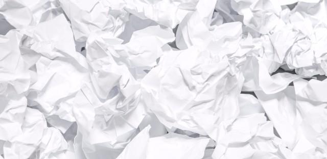 crumpled white paper