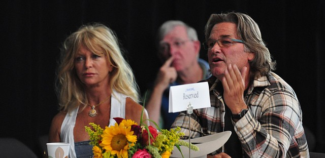 Goldie Hawn and Kurt Russell in 2010.