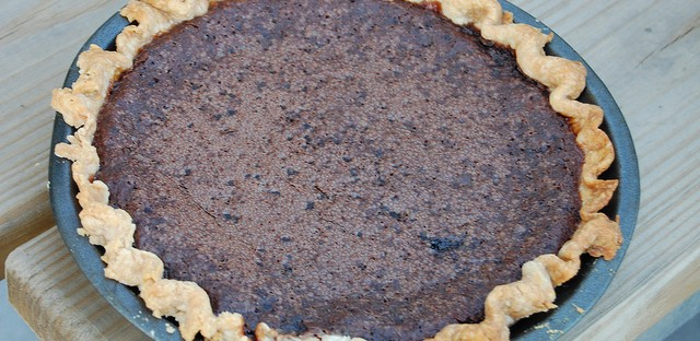 Minny's Chocolate Pie sans secret ingredient by Catherine Lambrecht at Soup & Bread & Pie 2012