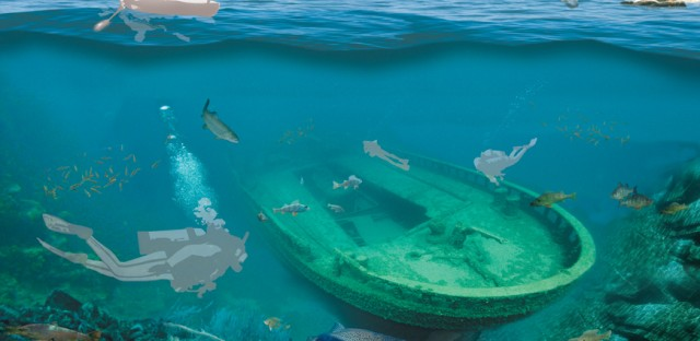 And the snorkeler-friendly shipwreck.