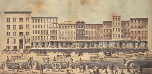 Raising Lake Street, 1860