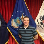 Nicholas Bade is shown being sworn into the U.S. Air Force on Dec. 18, 2018.