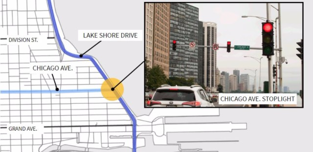 Does the light at LSD and Chicago Ave. cause or prevent more traffic?