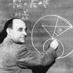 Dr. Enrico Fermi, leader of the group of scientists who succeeded in initiating the first man-made nuclear chain reaction, is seen Dec. 2, 1942.